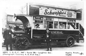 Route 10a Loughton Gar Vintage Car Postcard