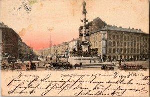 TEGETTHOFF DENKMAL MONUMENT CARL KUNDMANN VIENNA AUSTRIA 1903