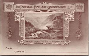 The Imperial Fine Art Corp. London Ad Advert Promo Unused Postcard E26