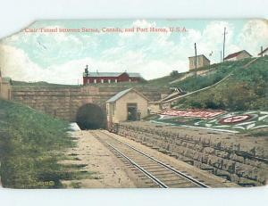 Pre-1907 TRAIN TUNNEL TO THE USA Sarnia Ontario ON hp9140