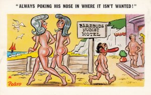 Nudists ; Always poking his nose in where it isn't wanted! , 1950-60s