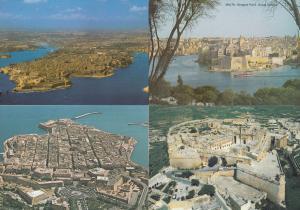 Malta Aerial View 4x Spectacular 1980s Birds Eye Postcard s