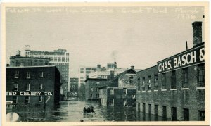 CT - Hartford. Great Flood, March 1936. Talcott Street west from Commerce