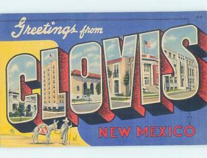 Linen BIG LETTERS Clovis New Mexico NM ho7061