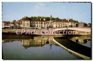 Old Postcard Chateau Thierry Aisne panoramic Marne and the Aspiring Bridge Ro...