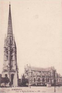 France Bordeuax Toue et Eglise St Michel