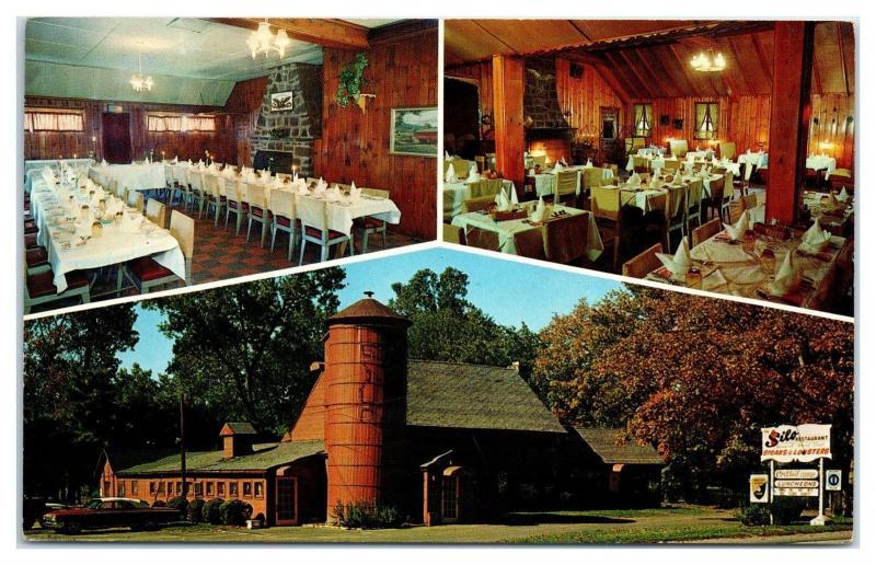 1960s Silo Restaurant Farmington Ct Postcard