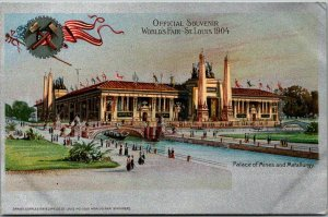 1904 ST. LOUIS WORLD'S FAIR Official Postcard Palace of Mines & Metallurgy
