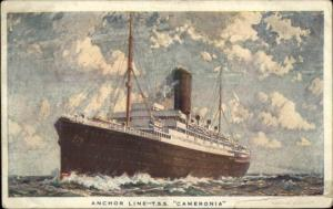 Anchor Line Steamship TSS T.S.S. Cameronia Used 1936 Postcard