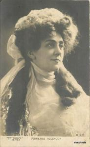 C-1910 Stage Actress Florence Holbrook Rotograph postcard 1635 RPPC