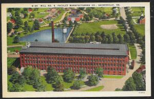 Pacolet Manufacturing Co Mill No 6 Gainesville Georgia Unused c1930s