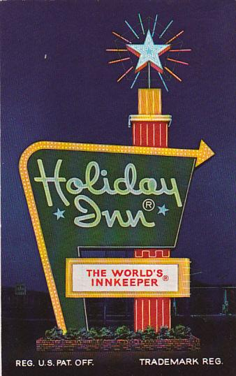 Holiday Inn, Nigth View, The World's Innkeeper, Fort Stockton, Texas, 40-60s
