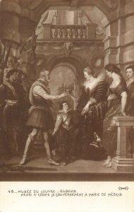 Musee du Louvre Rubens Henri IV Confie Le Gouvernement Postcard