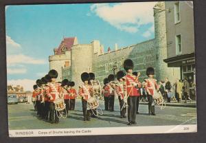 Corps Of Drums Leaving Windsor Castle, England - Used 1985 - Corner Wear