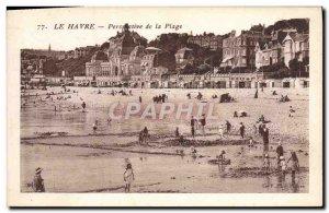 Old Postcard Le Havre Prespective the Beach