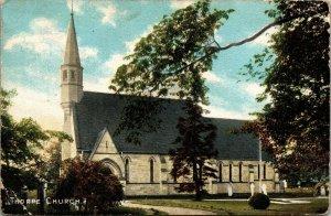 Antique Postcard Thorpe Church, Stockton on Tees, Postmark 1905