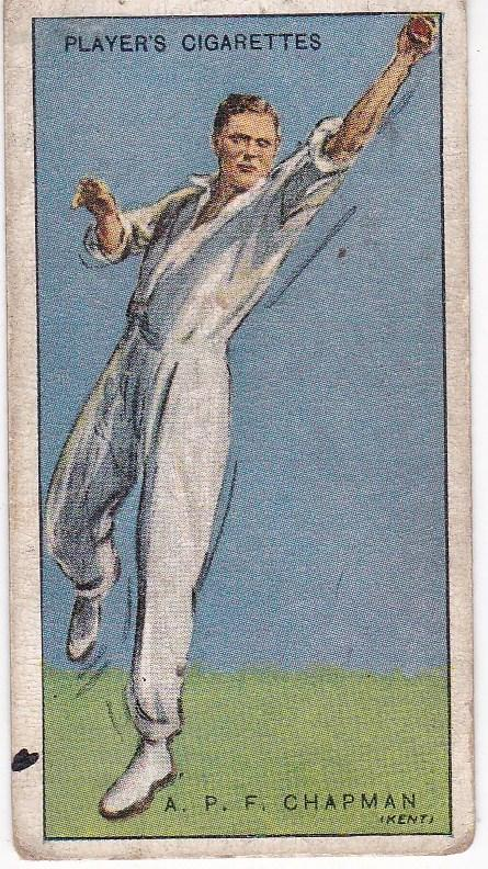 Cigarette Cards Player's Cricketers 1930 No 7 - A P F Chapman