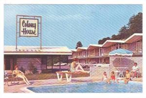 Swimming Pool, Colony House, Motor Lodge, Roanoke, Virginia,  40-60s