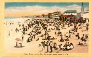 Maine Old Orchard Beach Beach Scene From The Pier Dexter Press