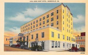 Gainesville Georgia~Dixie Hunt Hotel~1940s Postcard