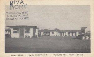 TUCUMCARI, New Mexico, PU-1954; Kiva Kort, U.S. Hwy. 54