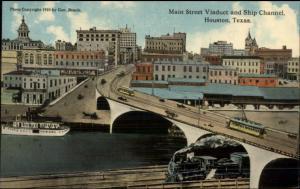 Houston TX c1910 Postcard EXC COND Main St. Viaduct