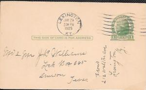 US  Pre-stamped Postcard UX27 Jefferson