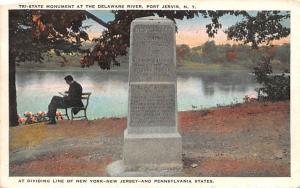 Tri State Monument Port Jervis, New York Postcard