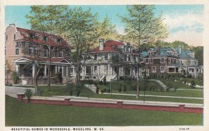 WHEELING, West Virginia, 1910-1940s; Beautiful Homes In Woodsdale