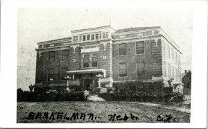 Vtg RPPC 1940s Benkelman NE Nebraska Court House Building UNP