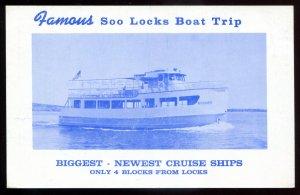 dc1293 - SAULT STE' MARIE Ontario Postcard 1940s Cruise Ship NOKOMIS