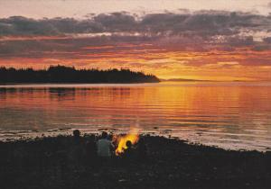 Sunset Parksville/Qualicum Beach, Vancouver Island,  B.C., Canada,   50-70s