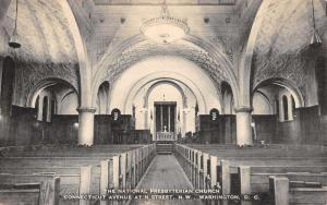 Washington DC National Presbyterian Church Interior Antique Postcard K26347
