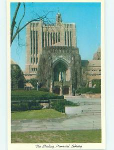 Unused Pre-1980 LIBRARY AT YALE UNIVERSITY New Haven Connecticut CT L7047