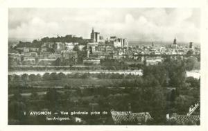 France, Avignon, Vue generale prise de Villeneuve les Avi...