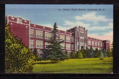 North Carolina postcard Senior High School Gastonia