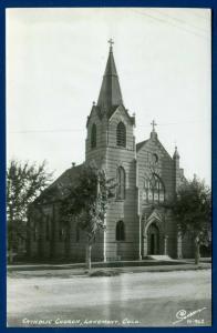 Longmont Colorado co Catholic Church Real Photo Postcard RPPC