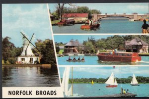 Norfolk Postcard - Views of Boating on The Norfolk Broads   A7513