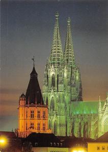 Koeln am Rhein Illuminated Cathedral Night view Dom