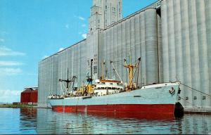 Wisconsin Superior S S Pioneer From Panama At Farmer's Union Grain Terminal