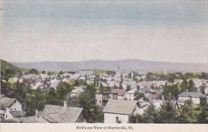 Vermont Morrisville Birds Eye View 1925