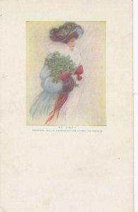 Woman portrait , 1900-10s ; #47A ; Artist Signed , Edith