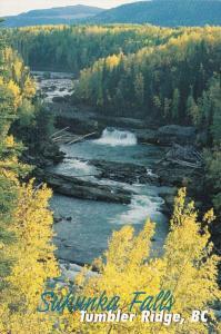 Canada British Columbia Tumbler Ridge Sukunka Falls