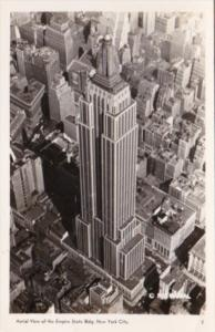 New York City Aerial View Empire State Building 1945 Real Photo