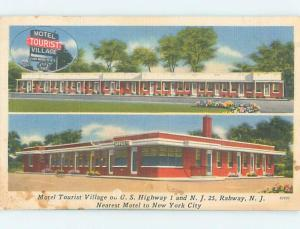 Linen TOURIST VILLAGE MOTEL Rahway New Jersey NJ B7680