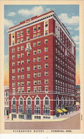 Mississippi Vicksburg The Vicksburg Hotel Clay and Walnut Street Curteich