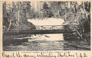 G37/ Bellingham Washington Postcard 1906 Whatcom Creek Falls Bridge