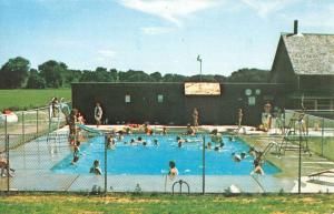 Colona Illinois Melodie Meadows Family Camping Pool Vintage Postcard K52061