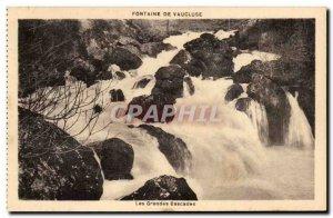 Vaucluse - Les Grandes Cascades - Old Postcard