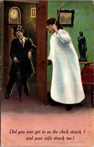 COMEDY - Vintage Romantic Postcard Collectible Antique Post Card